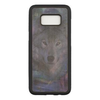 Funda Para Samsung Galaxy S8 De Carved Lobo en el claro de luna