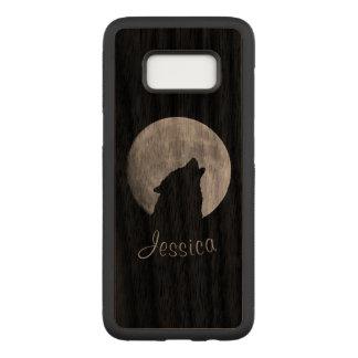 Funda Para Samsung Galaxy S8 De Carved Lobo que grita en la Luna Llena, su nombre