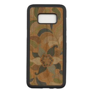 Funda Para Samsung Galaxy S8 De Carved Vintage japonés Brown azul floral bordado
