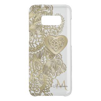 Funda Para Samsung Galaxy S8 De Uncommon Cordón del oro del monograma y corazón céltico