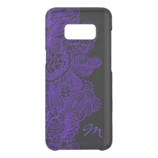 Funda Para Samsung Galaxy S8 De Uncommon Cordón y monograma púrpuras en negro