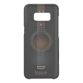 Funda Para Samsung Galaxy S8 De Uncommon Música negra de la guitarra acústica