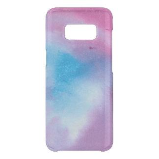 Funda Para Samsung Galaxy S8 De Uncommon Watercolour de mármol rosado y azul
