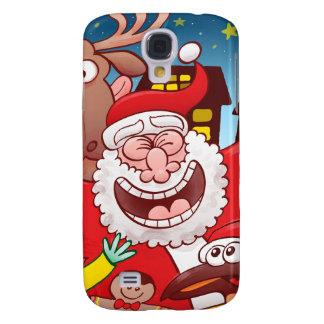 Funda Para Samsung S4 Papá Noel y su equipo están listos para el navidad