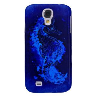 Funda Para Samsung S4 Pintura azul del Seahorse