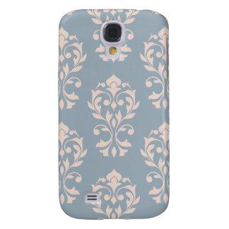 Funda Para Samsung S4 Rosa de LG Ptn II del damasco del corazón en azul