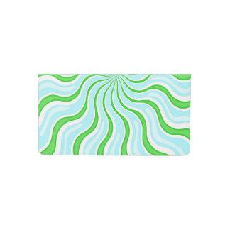 Funda Para Talonario De Cheques Cubierta azul clara y verde del talonario de
