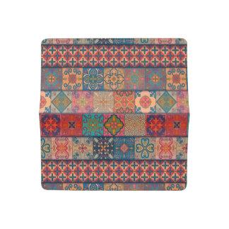 Funda Para Talonario De Cheques Ornamento de Talavera del mosaico del vintage