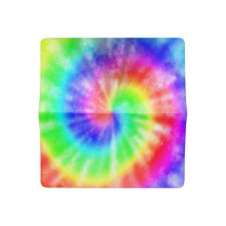 Funda Para Talonario De Cheques Teñido anudado del arco iris