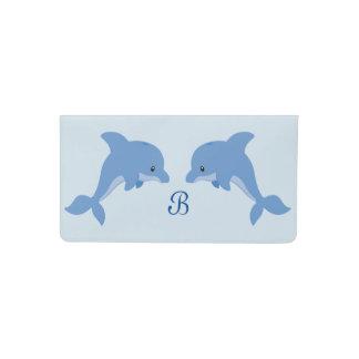 Funda Para Talonario De Cheques Un delfín feliz lindo