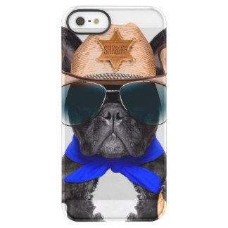 Funda Permafrost® Para iPhone SE/5/5s barro amasado del vaquero - vaquero del perro