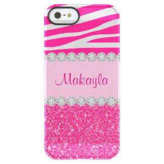 Funda Permafrost® Para iPhone SE/5/5s Caso rosado de encargo del iPhone 5 de la capa