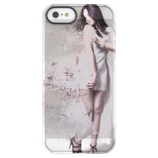 Funda Permafrost® Para iPhone SE/5/5s Chica en caso de encargo del iPhone hermoso blanco