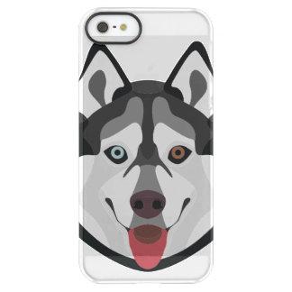 Funda Permafrost® Para iPhone SE/5/5s El ilustracion persigue el husky siberiano de la