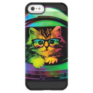 Funda Permafrost® Para iPhone SE/5/5s Gato del inconformista - astronauta del gato -