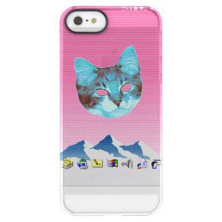 Funda Permafrost® Para iPhone SE/5/5s Gato fresco de Vaporwave Windows