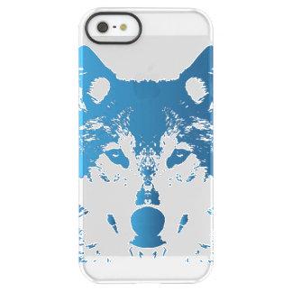 Funda Permafrost® Para iPhone SE/5/5s Lobo de los azules claros del ilustracion