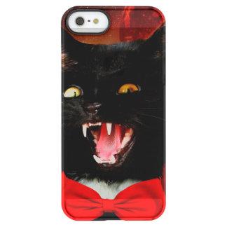 Funda Permafrost® Para iPhone SE/5/5s vampiro del gato - gato negro - gatos divertidos