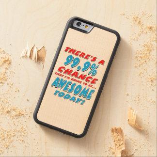 Funda Protectora De Arce Para iPhone 6 De Carved 99,9% El IR A SER IMPRESIONANTE (negro)