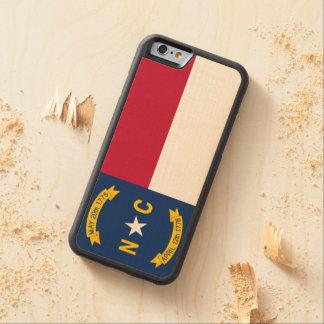 Funda Protectora De Arce Para iPhone 6 De Carved Bandera del estado de Carolina del Norte