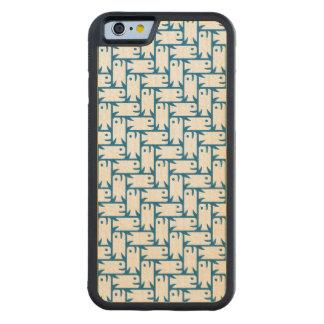 Funda Protectora De Arce Para iPhone 6 De Carved Caso a pescado del iPhone del modelo de la raspa