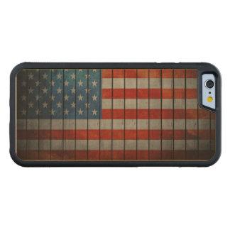Funda Protectora De Arce Para iPhone 6 De Carved Cerca pintada de la bandera americana