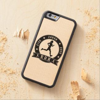Funda Protectora De Arce Para iPhone 6 De Carved Círculo femenino CORRIDO amor vivo de la risa
