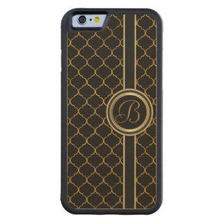 Funda Protectora De Arce Para iPhone 6 De Carved Ejecutivo masculino del monograma