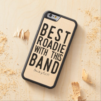 Funda Protectora De Arce Para iPhone 6 De Carved El mejor Roadie (quizá) (negro)