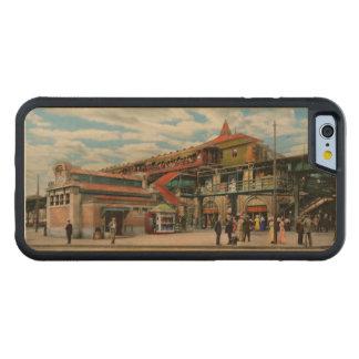Funda Protectora De Arce Para iPhone 6 De Carved Estación de tren - casa atlántica 1910 del control
