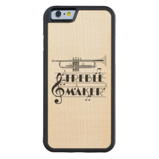 Funda Protectora De Arce Para iPhone 6 De Carved Fabricante del triple del jugador de trompeta