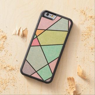 Funda Protectora De Arce Para iPhone 6 De Carved Geométrico abstracto en colores pastel helada por