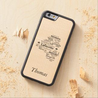 Funda Protectora De Arce Para iPhone 6 De Carved La parroquia de Lafayette Luisiana pone la caja de
