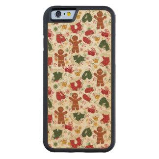 Funda Protectora De Arce Para iPhone 6 De Carved Modelo del pan de jengibre del día de fiesta