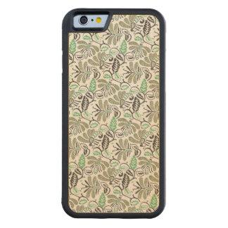 Funda Protectora De Arce Para iPhone 6 De Carved Modelo verde de Walang del batik auténtico