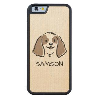 Funda Protectora De Arce Para iPhone 6 De Carved Perro del dibujo animado de cocker spaniel - texto