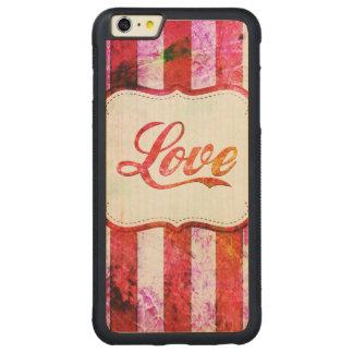 Funda Protectora De Arce Para iPhone 6 Plus De Car Amor rosado con las rayas