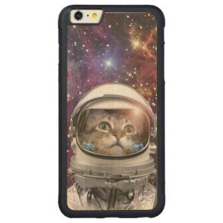 Funda Protectora De Arce Para iPhone 6 Plus De Car Astronauta del gato - gato loco - gato