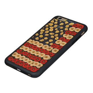 Funda Protectora De Arce Para iPhone 6 Plus De Car Bandera de los E.E.U.U. del flower power