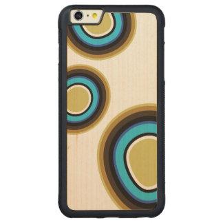 Funda Protectora De Arce Para iPhone 6 Plus De Car Caso de madera del iPhone de los anillos retros