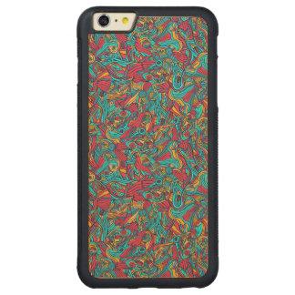 Funda Protectora De Arce Para iPhone 6 Plus De Car Diseño abstracto dibujado mano colorida del modelo