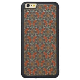 Funda Protectora De Arce Para iPhone 6 Plus De Car Diseño floral del modelo del extracto de la