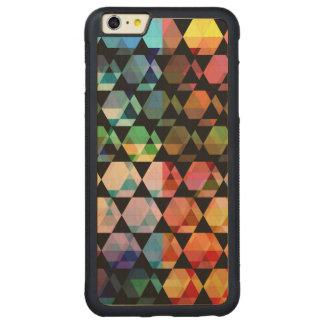 Funda Protectora De Arce Para iPhone 6 Plus De Car Diseño gráfico del hexágono abstracto