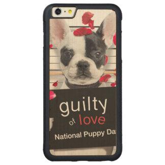 Funda Protectora De Arce Para iPhone 6 Plus De Car Dogo francés del el día de San Valentín