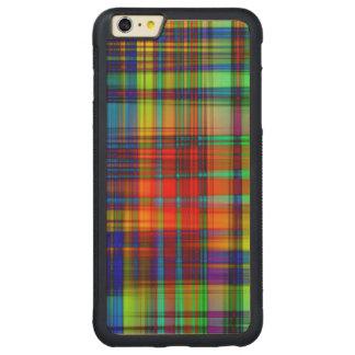 Funda Protectora De Arce Para iPhone 6 Plus De Car El extracto colorido raya arte