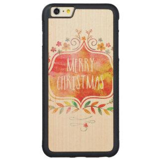 Funda Protectora De Arce Para iPhone 6 Plus De Car Felices Navidad retras de la acuarela