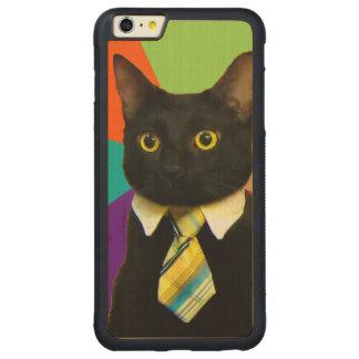 Funda Protectora De Arce Para iPhone 6 Plus De Car gato del negocio - gato negro