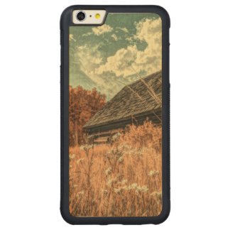 Funda Protectora De Arce Para iPhone 6 Plus De Car granero viejo de la granja del wildflower del