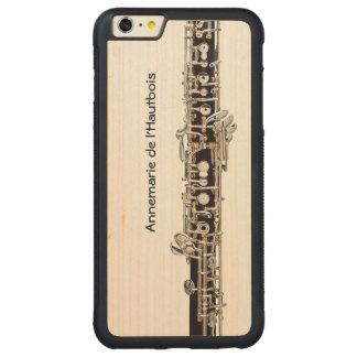 Funda Protectora De Arce Para iPhone 6 Plus De Car Llaves de Oboe, nombre adaptable