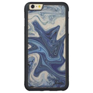 Funda Protectora De Arce Para iPhone 6 Plus De Car Mármol blanco azul de la aguamarina de los